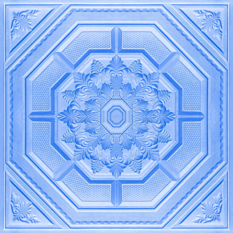 在天花板石膏板料的样式 免版税库存照片