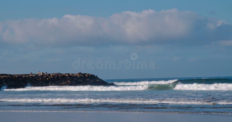 在太平洋的波浪 库存照片