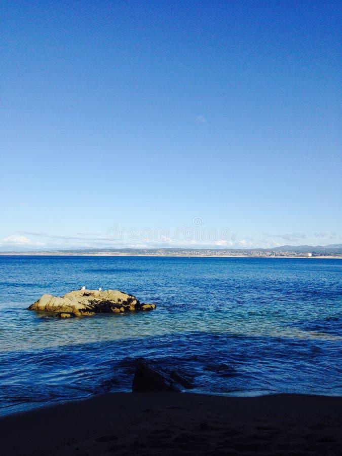 在太平洋的岩石 免版税库存照片