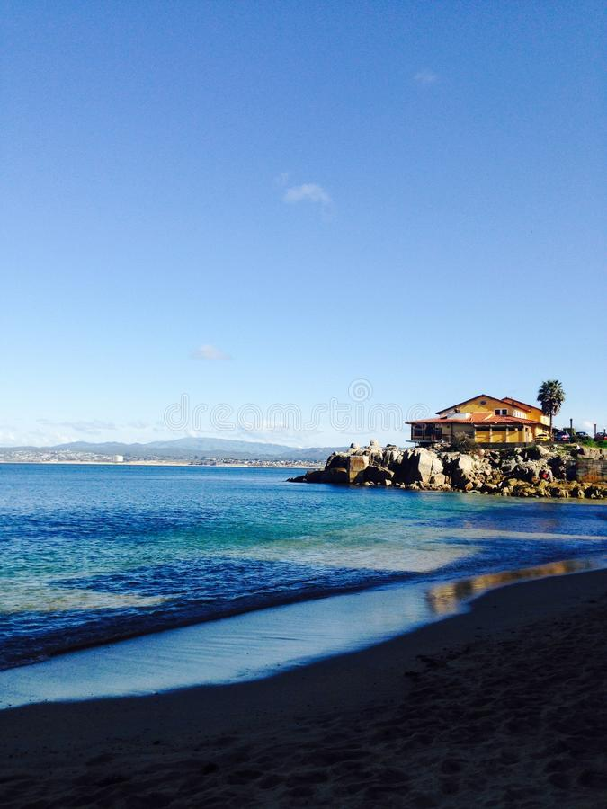 在太平洋的海岸线 免版税图库摄影