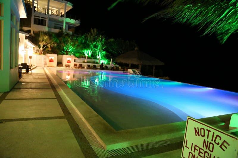 在太阳下的游泳池 免版税图库摄影