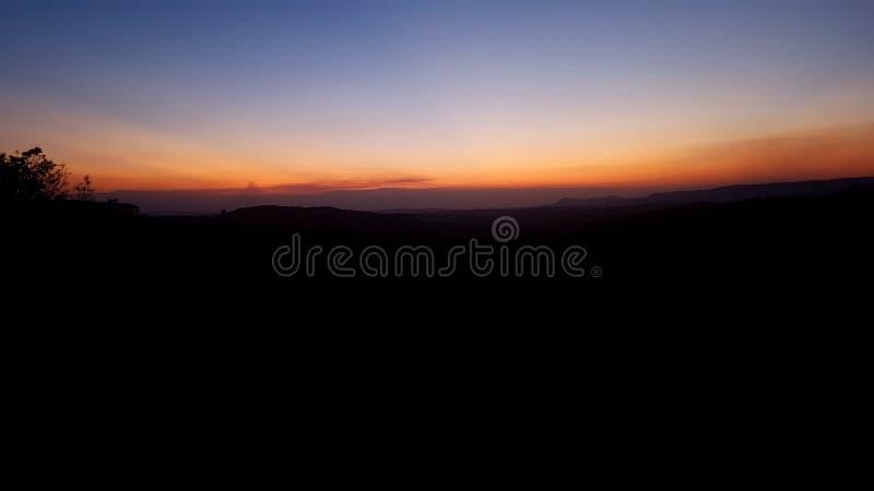 在太阳以后 图库摄影
