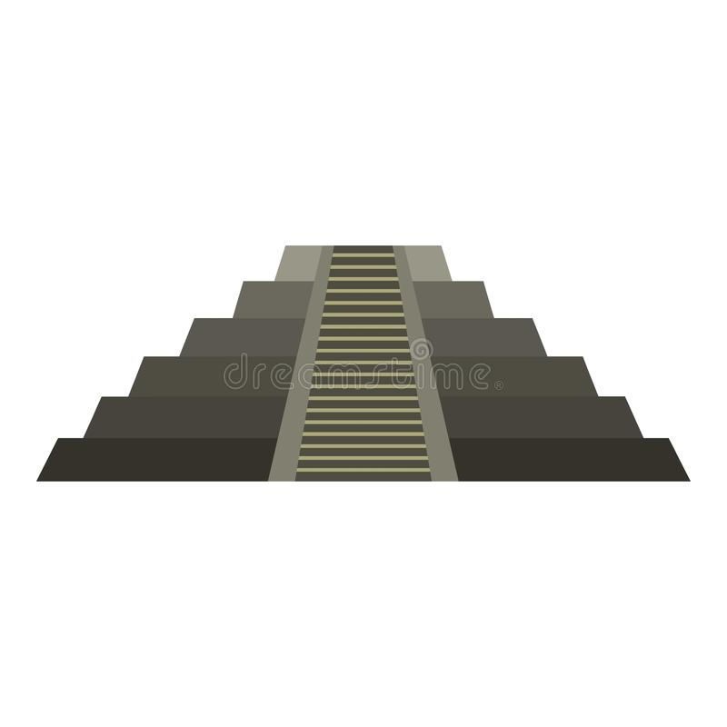 在奇琴伊察象的El卡斯蒂略玛雅金字塔 皇族释放例证