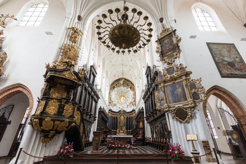 在奥利瓦大教堂里面在格但斯克 图库摄影