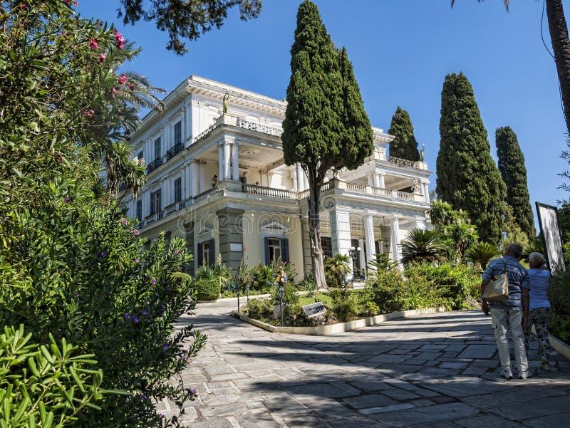 在奥地利Sissi的女皇修造的科孚岛希腊海岛上的Achillieon宫殿伊丽莎白 库存照片