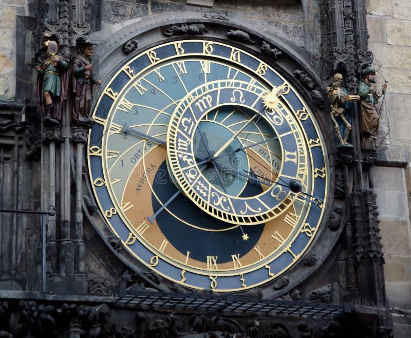 在奥尔德敦霍尔的天文学时钟 库存照片