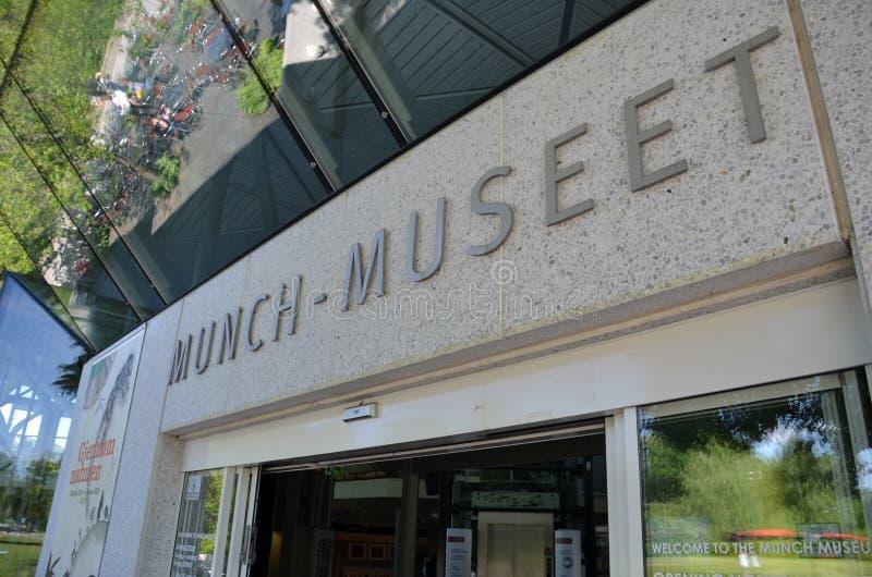 在奥斯陆用力嚼博物馆 库存图片