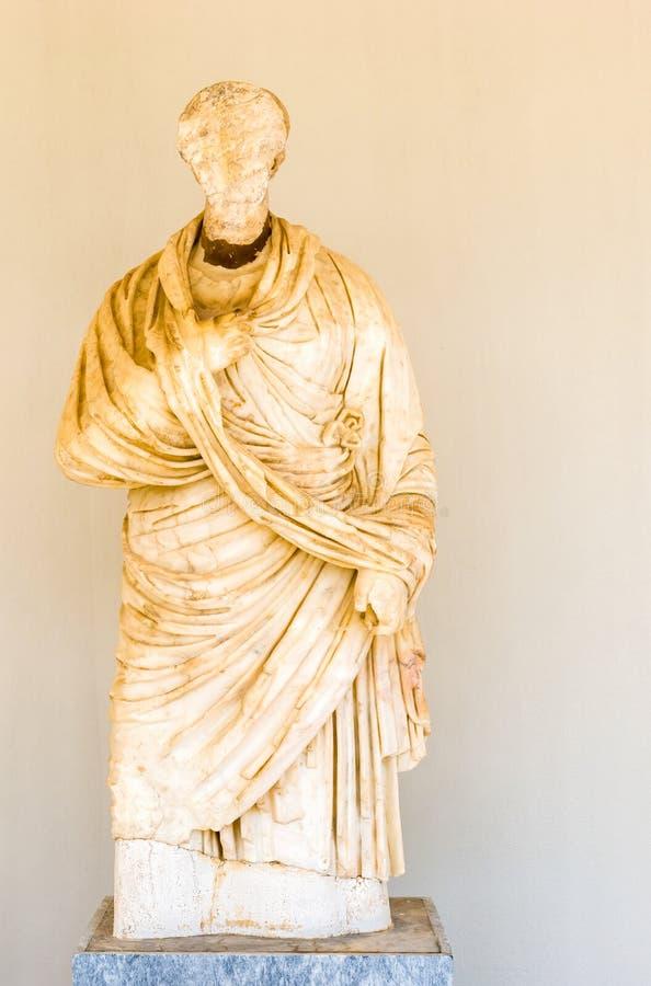 在奥林匹亚,希腊的雕塑 库存照片