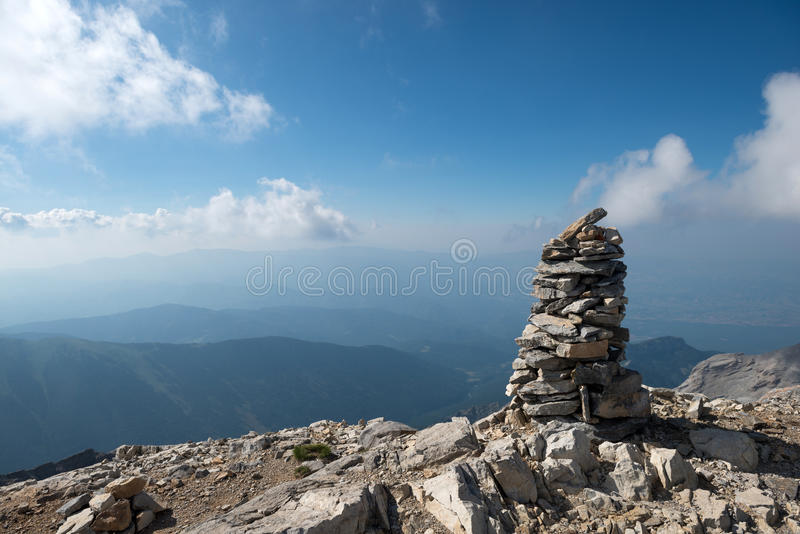在奥林匹斯山上面  免版税图库摄影