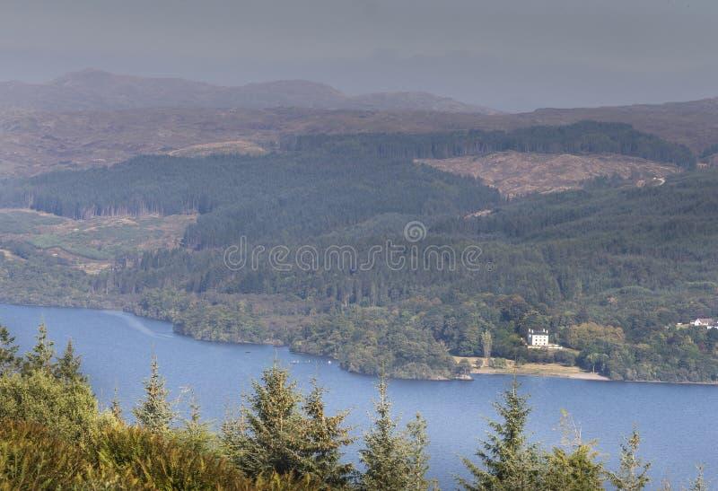 在奥湖的看法在西部Argyll,苏格兰 免版税库存照片