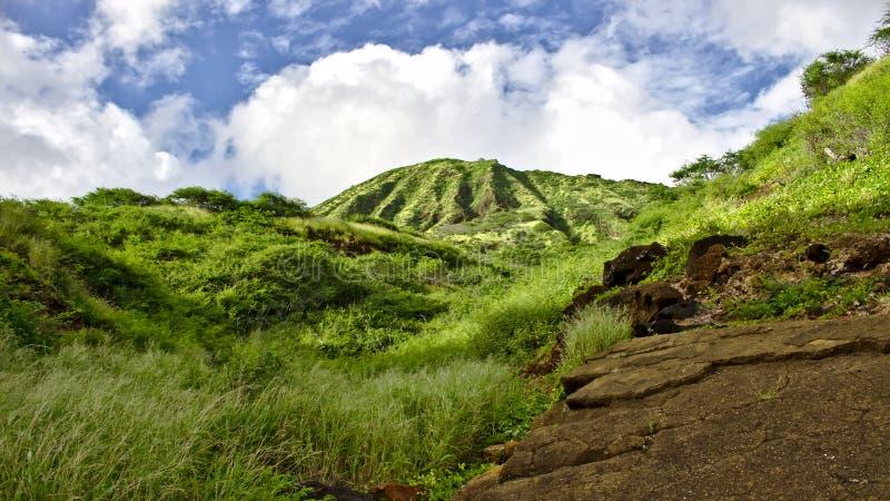 在奥阿胡岛,夏威夷的Koko头 免版税图库摄影