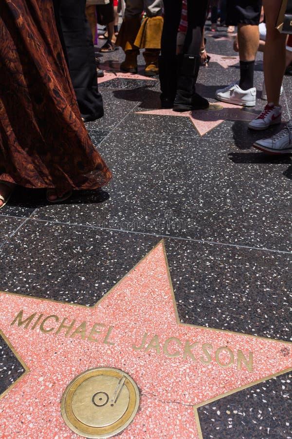 在好莱坞星光大道的迈克尔・杰克逊的星 免版税库存图片