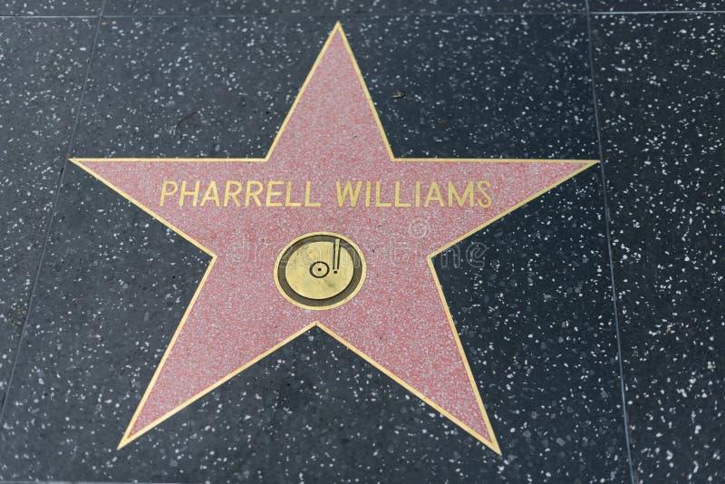 在好莱坞星光大道的Pharrell威廉斯星 免版税库存照片