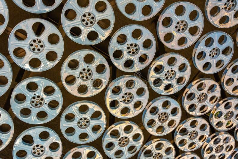 在好莱坞/藤地铁天花板的影片轴在洛杉矶,加州 免版税图库摄影