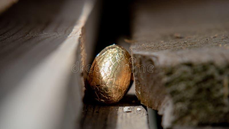 在委员会掩藏的复活节彩蛋 免版税库存照片