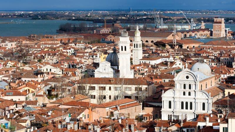 在威尼斯,意大利的看法 免版税库存图片
