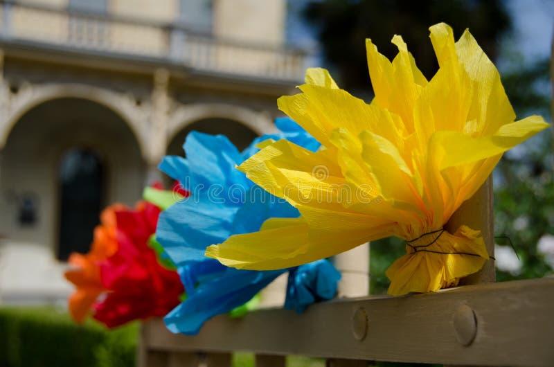 在威廉Historic District,圣安东尼国王的节日装饰 库存照片