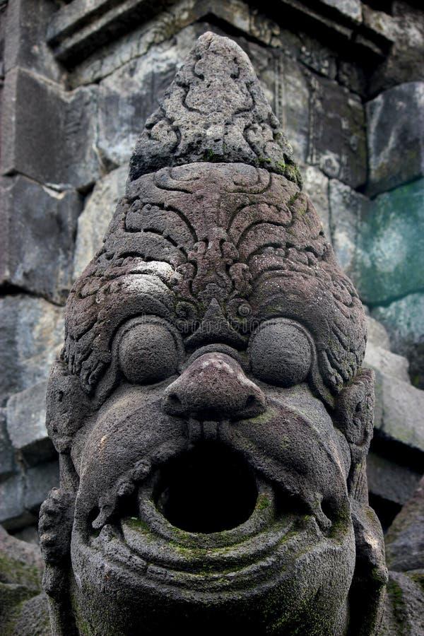 在婆罗浮屠寺庙的雕象 免版税库存图片