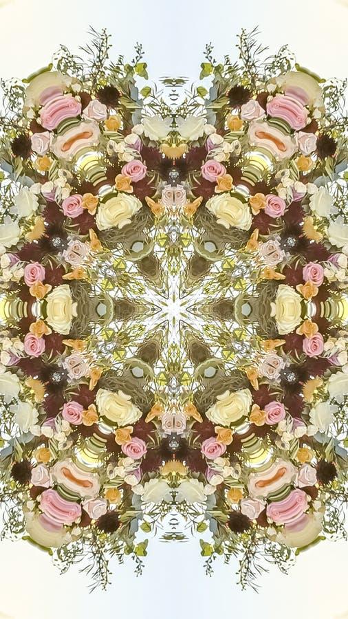在婚礼的垂直的加利福尼亚花被安排入形状 库存例证