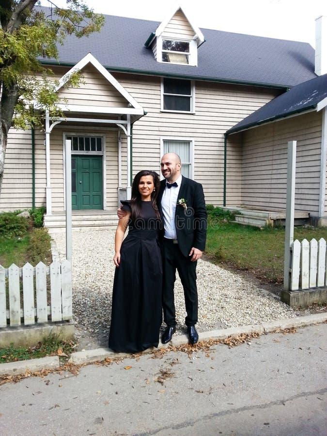 在婚礼的愉快的夫妇 库存图片
