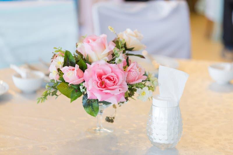 在婚礼的花瓶 库存图片