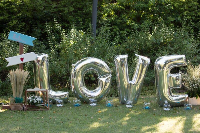 在婚礼聚会的装饰 免版税库存照片