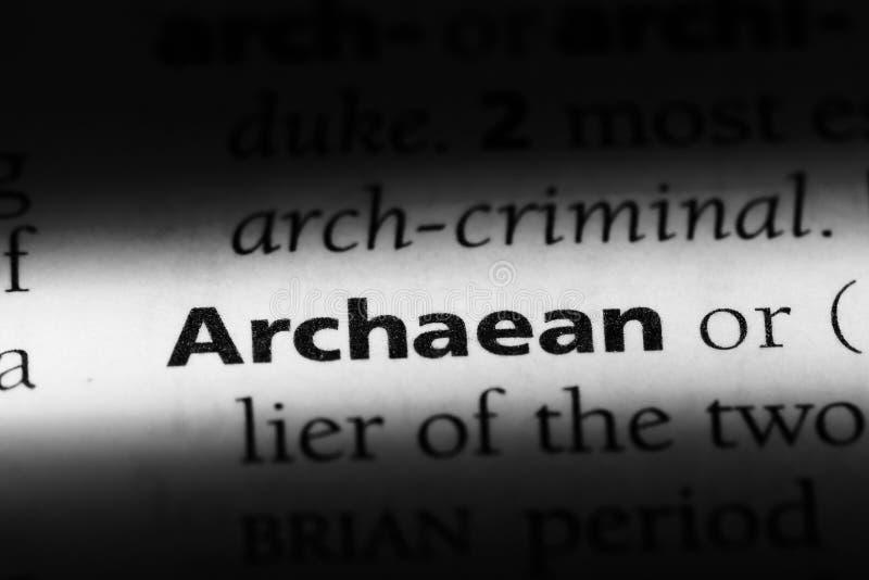 在字典的太古代的词 太古代的概念 图库摄影