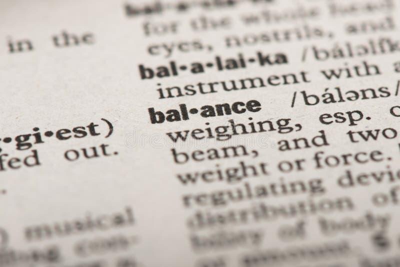 在字典的平衡 免版税库存图片