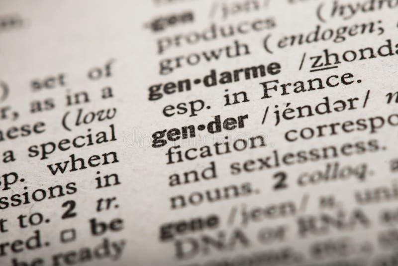 在字典的性别 免版税库存照片