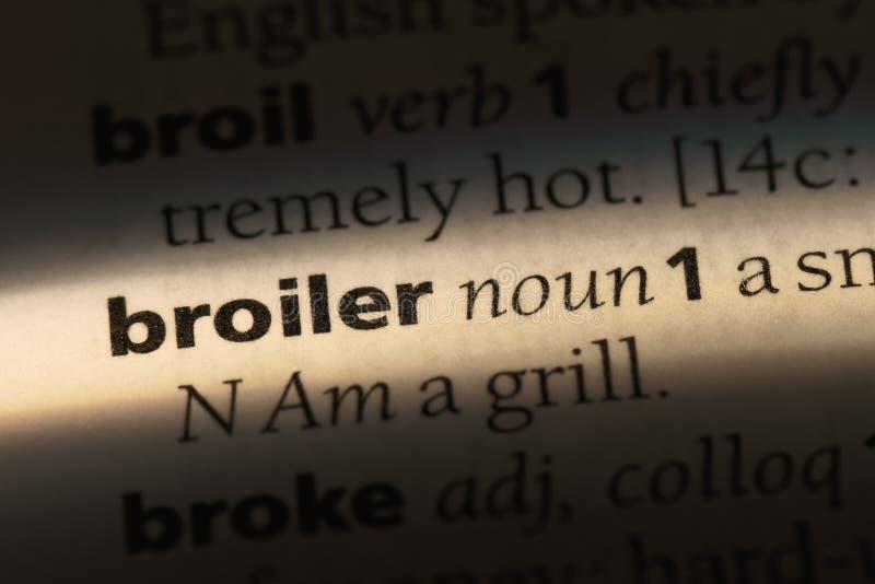 在字典的烤焙用具词 烤焙用具概念 免版税图库摄影