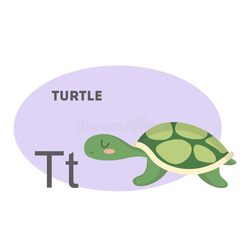 在字母表的乌龟 向量例证