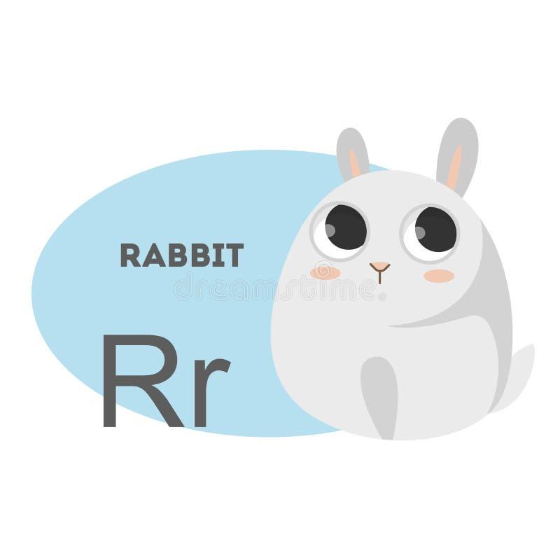 在字母表的兔子 库存例证