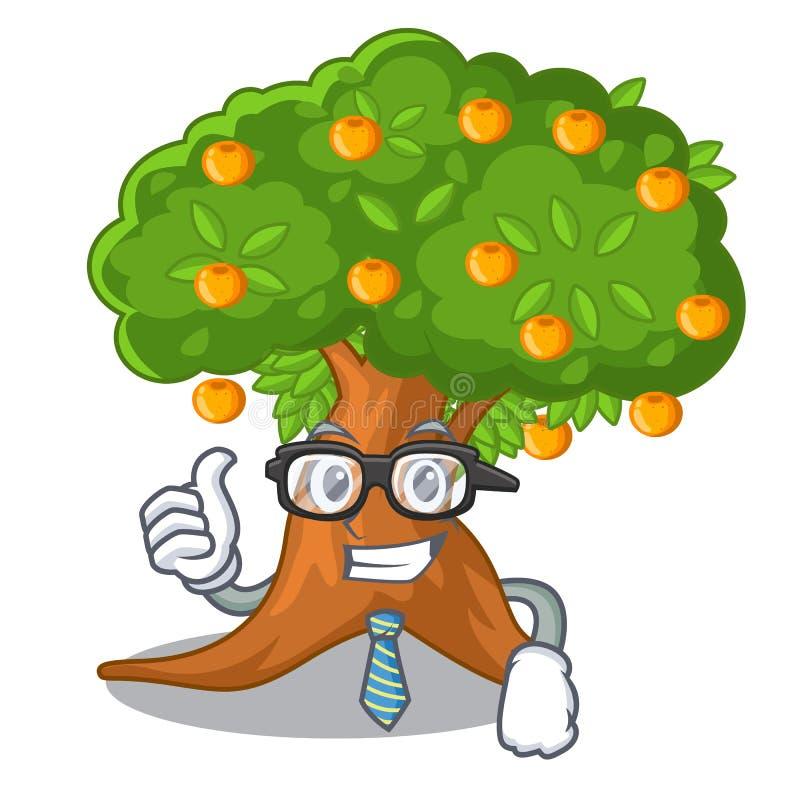 在字符形状的商人橙树 库存例证