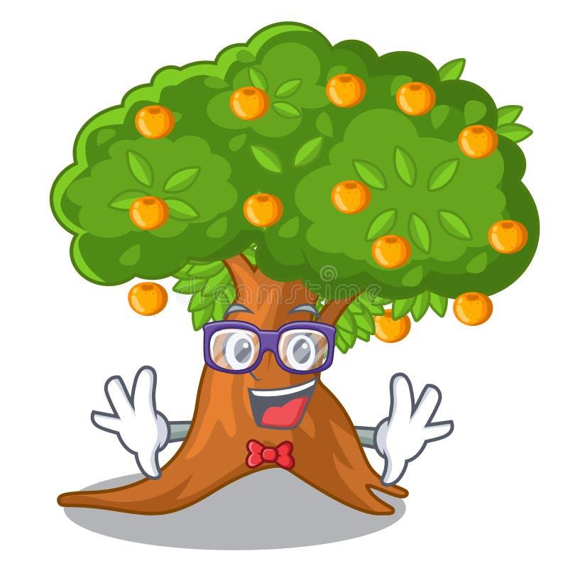 在字符形状的怪杰橙树 向量例证