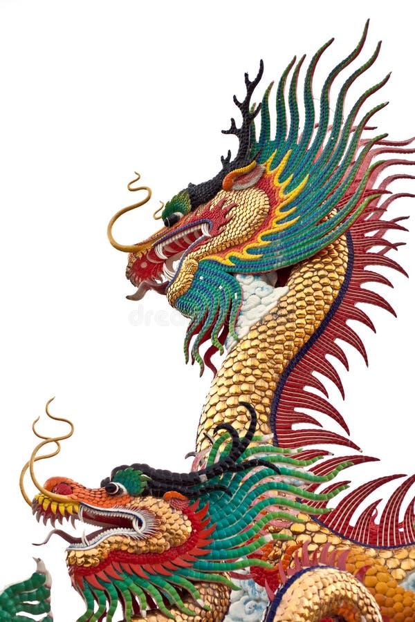 在孤立的中国龙 免版税库存图片