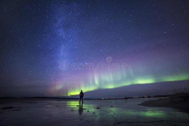 在它最美好的酷寒北风挪威 库存照片