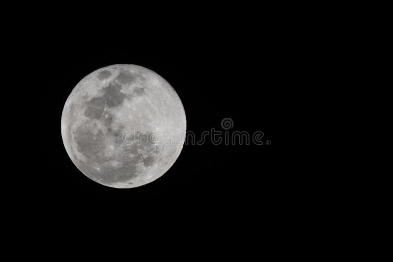 在它的月亮最大也叫supermoon,近似十procent大于通常 图库摄影