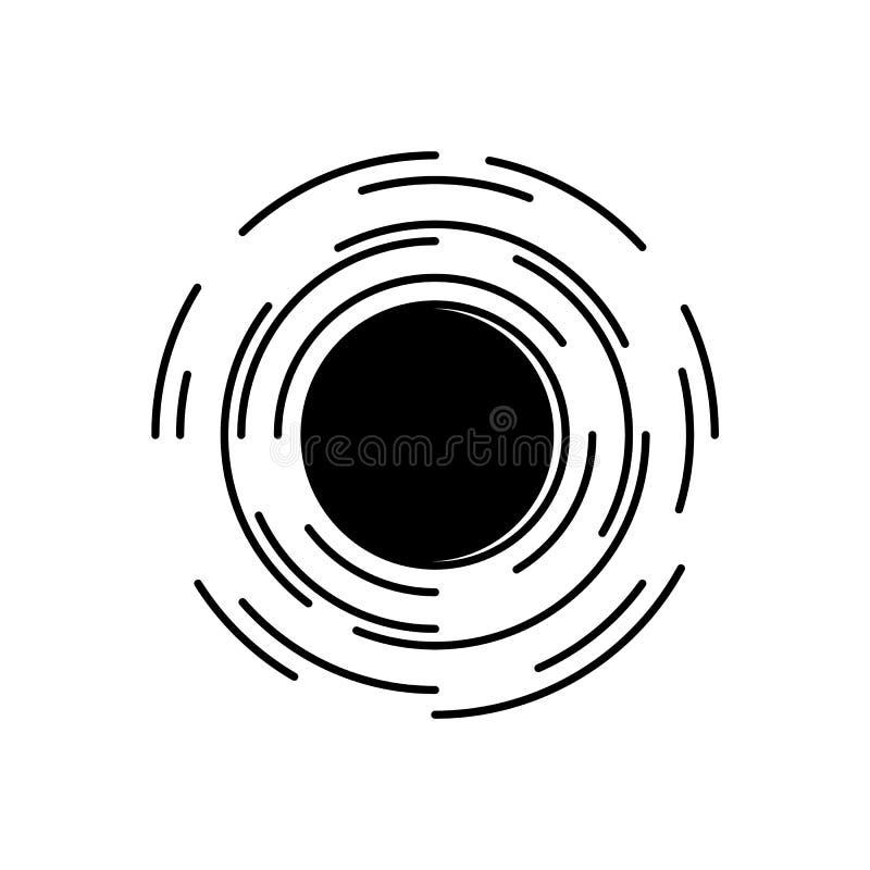 在宇宙标志的黑洞与时空畸变作用被隔绝的对白色背景 皇族释放例证
