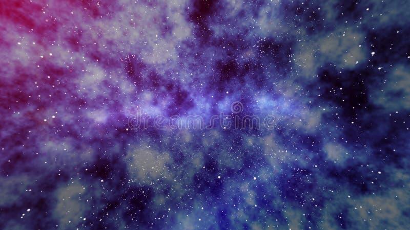 在宇宙的朦胧的星际 向量例证