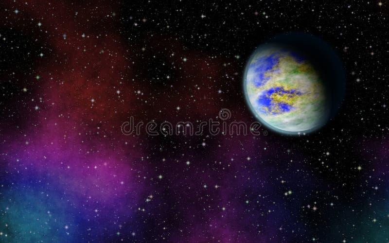 在宇宙的神奇,未知的行星 在星中的生活 库存图片