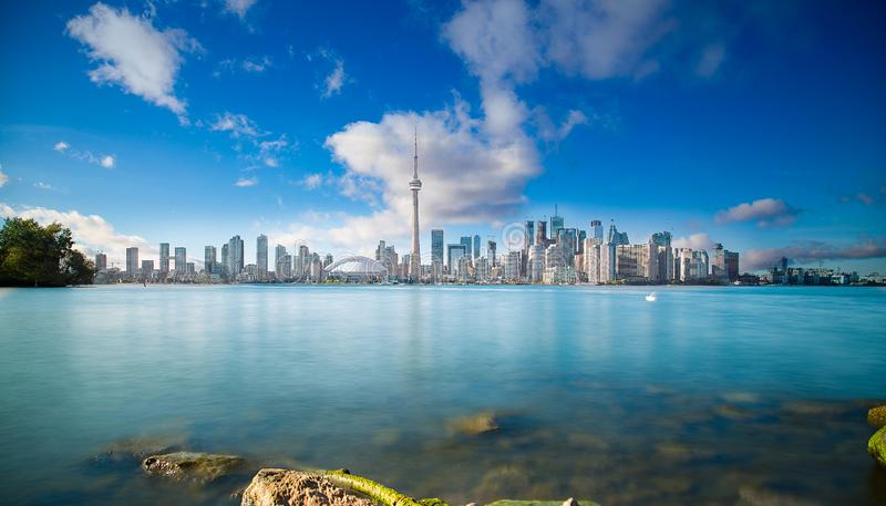 在安大略加拿大的多伦多地平线 免版税图库摄影