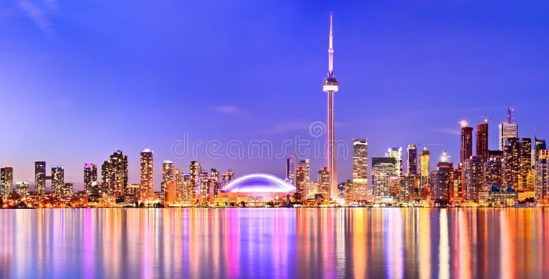 在安大略,加拿大的多伦多地平线 免版税库存图片