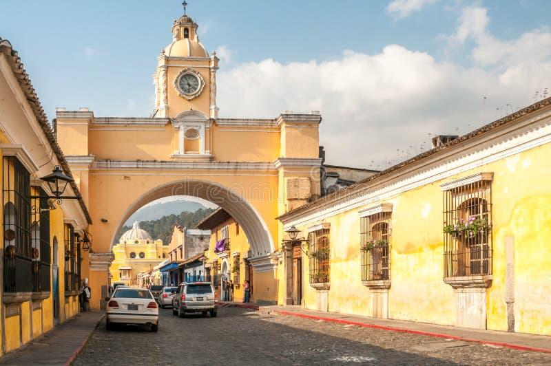 在安提瓜岛的街道 库存图片