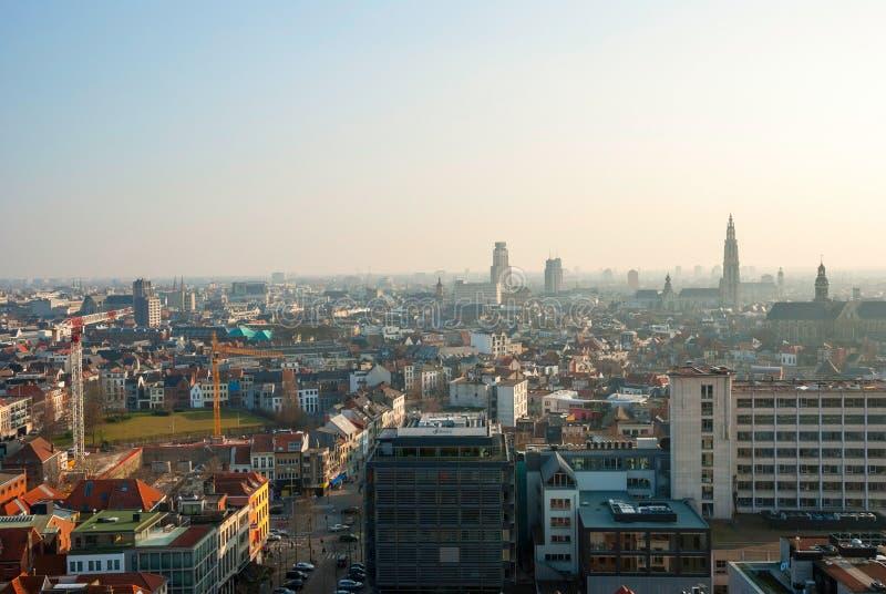 在安特卫普市,比利时的看法 免版税库存照片