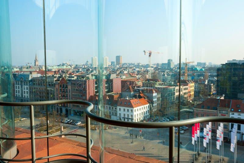 在安特卫普的看法从Musem aan der Stroom 免版税库存照片