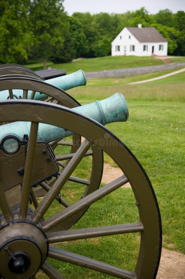 在安蒂塔姆战场的内战大炮 免版税图库摄影