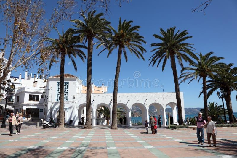 散步在Nerja,西班牙 免版税库存照片