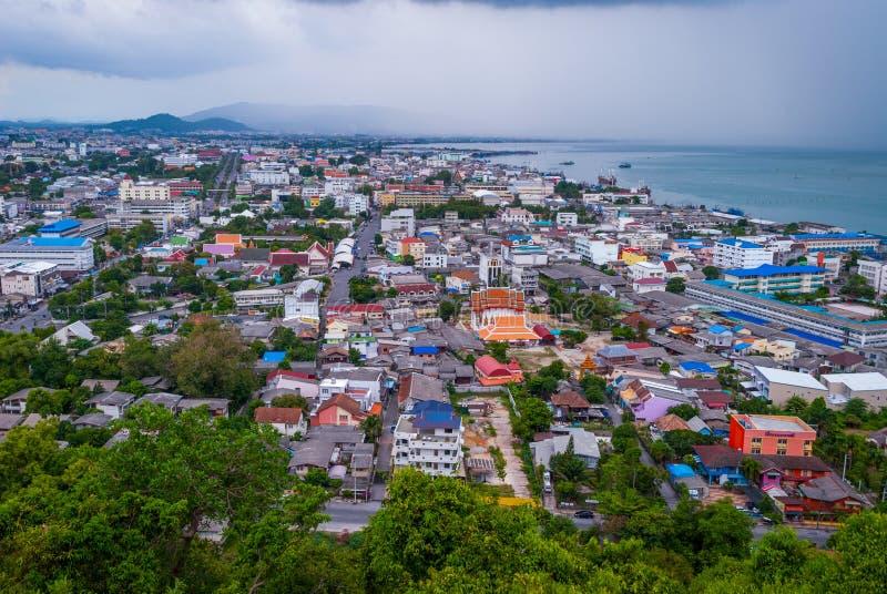 在宋卡市,泰国的看法 免版税库存照片