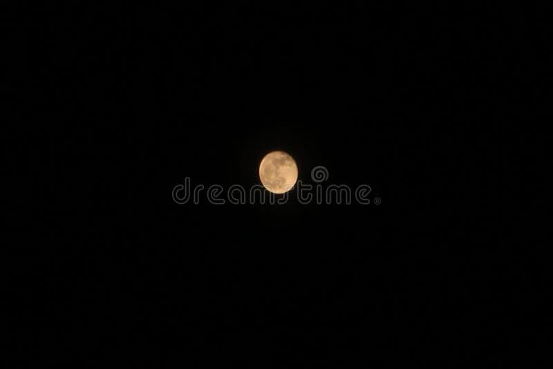 在完善的清楚的天空的大满月 免版税库存照片