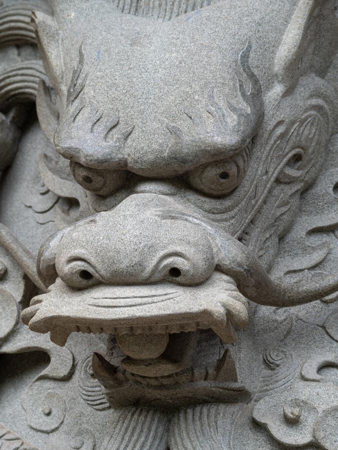在宝莲寺,香港的雕象细节 库存图片